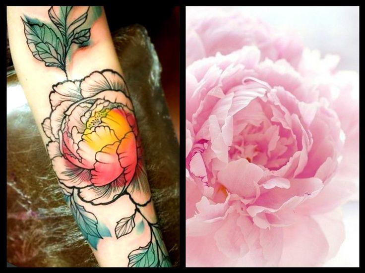 Delicati tatuaggi con peonie: foto e significato 43