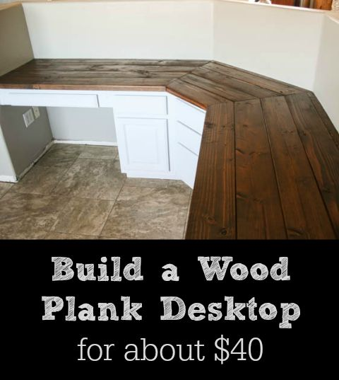 Build a Wood Plank Desktop For About $40