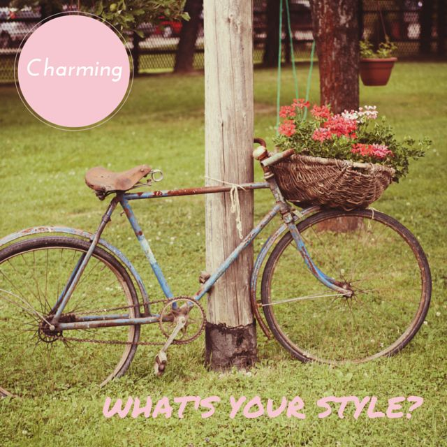 What's your style? Are you a charming bride? What's your STYLE? We  a wedding that has rustic, sweet and ethereal touches. They make your wedding totally charming and it's the perfect style for a winery or country wedding. A charming style creates a warm and welcoming atmosphere for your guests. #weddingstyle