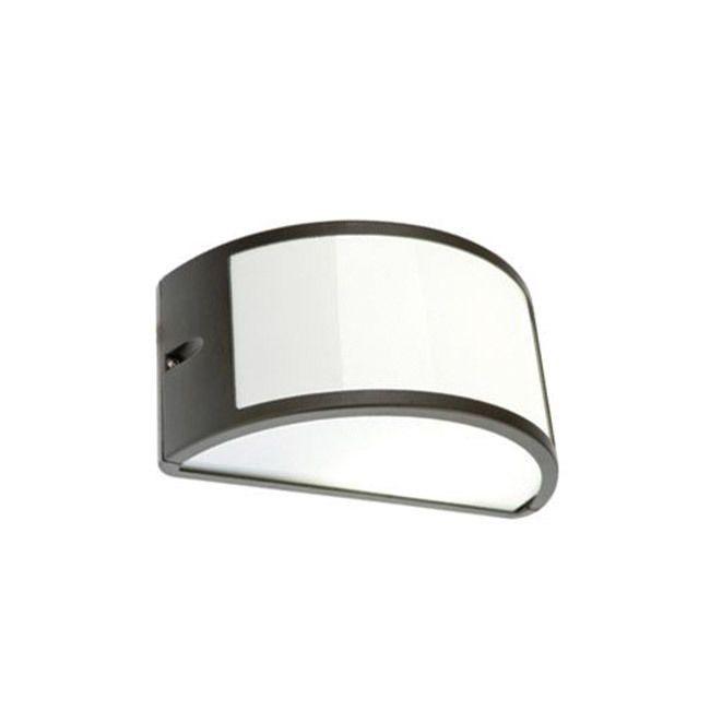 Applique mezzaluna moderna lampada da parete per esterno grigio P17053