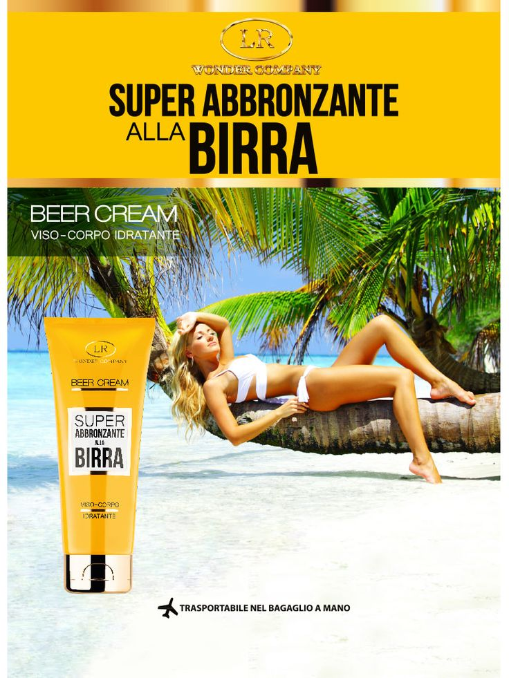Beer Cream fronte brochure estiva
