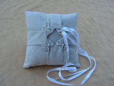 подушка двери заветы мягкие/оригами/смокинг льняной серый мотивы четырьмя узлами с бисером