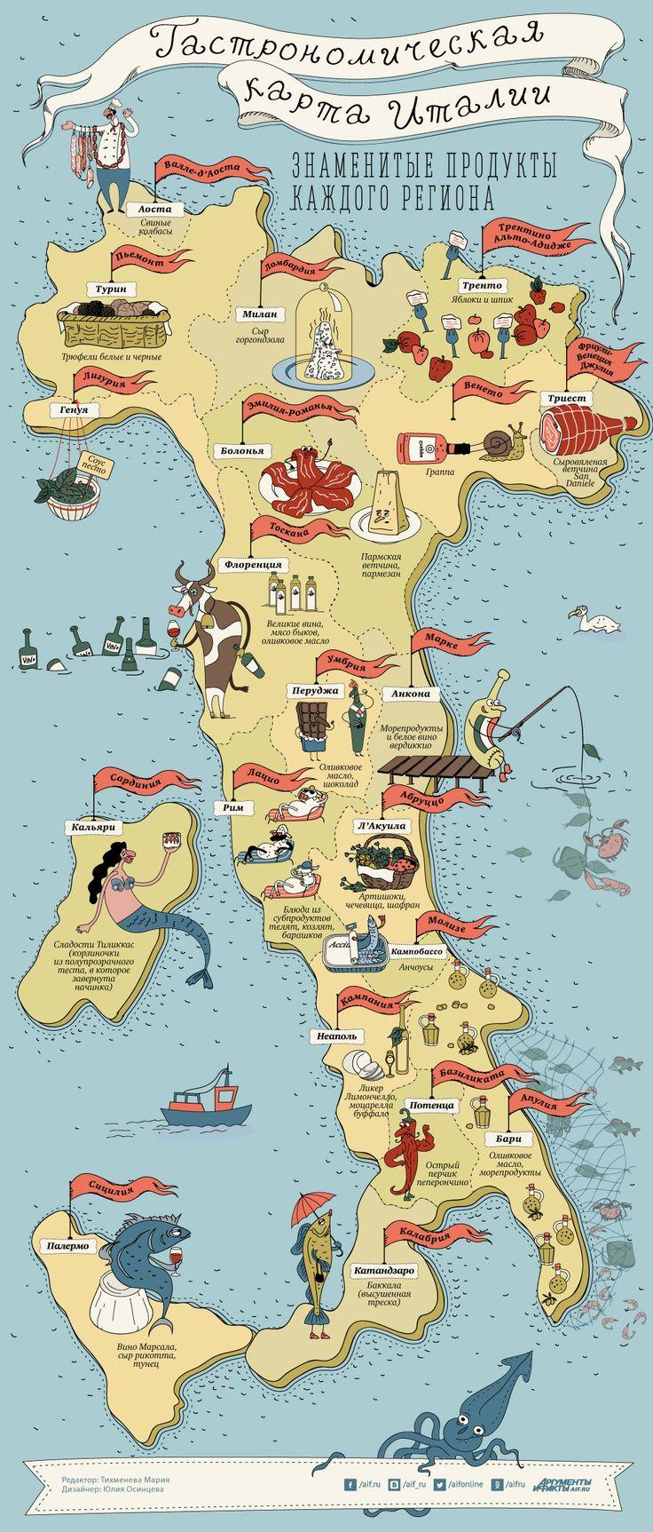Из Пьемонта в Калабрию. Что можно съесть в разных регионах Италии | Кухни мира | Кухня | Аргументы и Факты