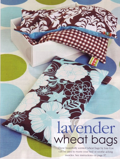 Lavender Heat Bag- add a ribbon tag to bag to use when getting out of microwave, genius!