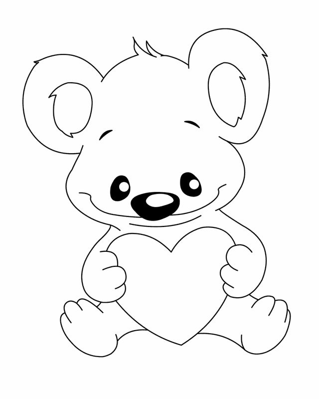 29 Printable Valentines Day Coloring Pages Koala Bear