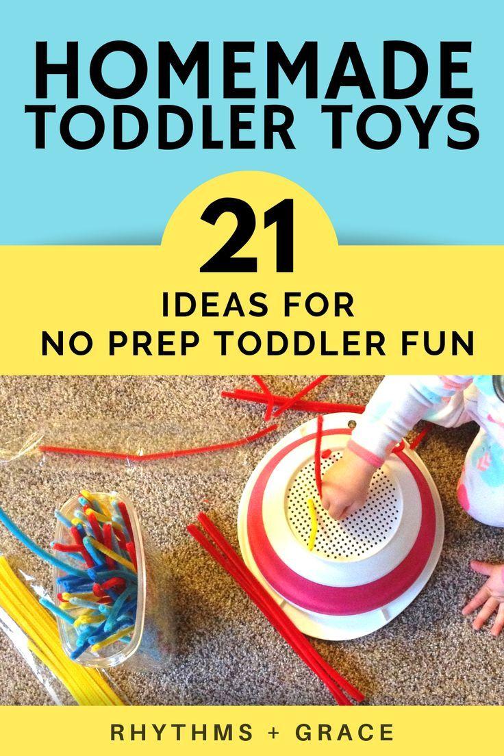 Endlich! DIY hausgemachtes Kleinkindspielzeug, das eigentlich KEIN PREP ist. Nimm einfach das Recycling …
