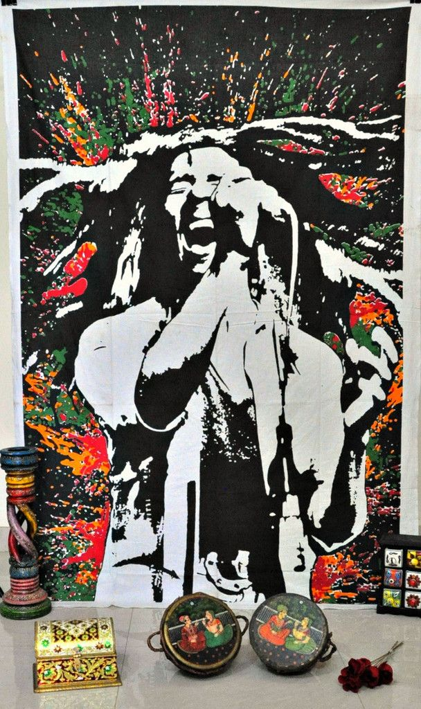 Loving Life - Bob Marley Tapestry Wall Hanging Hippie Beach Throw for parties