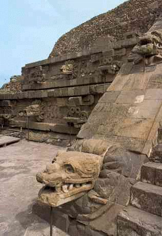 Ancient City Teotihuacan, MEXICO.  most of the stones were used to builod the presidential palace and the cathedral.