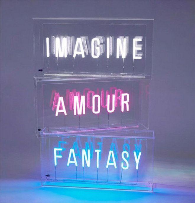 Ideias de decoração: placas de neon