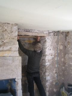 restoration of traditional Cumbrian farmhouse using lime plaster inside.  Part of the 2014 Green Open Homes initiative in the Cockermouth area.