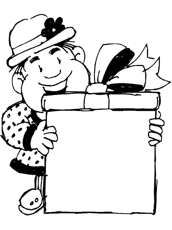 St Patricks Day Coloring Page Leprechaun Gift