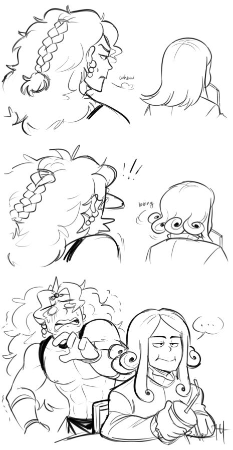 """bechnokid: """" Kinda a sequel to this? Don't worry, Kars. No one understands Valentine's hair, either. """""""