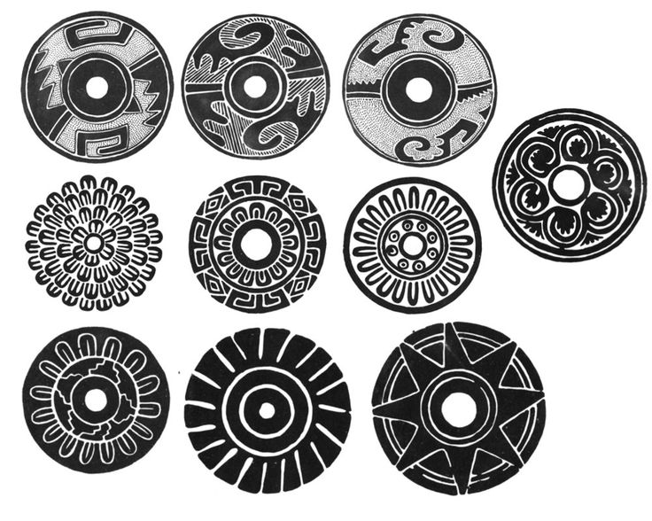 Photoshop brushes, Mexican designs tribal patterns, large format circles by Bestreeartdesigns on Etsy