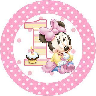 LARGE PRINTABLE SET- Minnie Baby – Kit Completo com molduras para convites, rótulos para guloseimas, lembrancinhas e imagens! | Fazendo a Nossa Festa