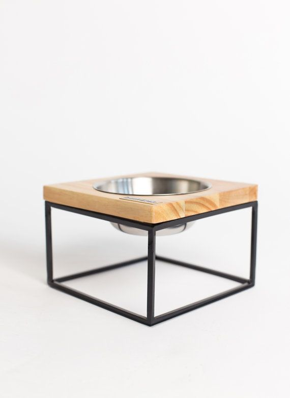 Midcentury modern design dog bowl  size small S-MOD by Barketek