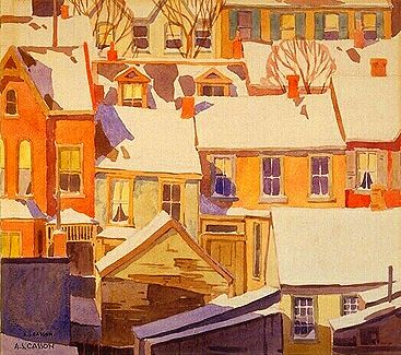 Housetops in the Ward, by A. J. Casson  At last we are seeing some of the group of seven.  Wonderful.