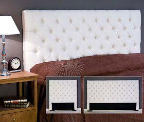 COMO HACER CABECERO CAPITONE ACOLCHADO via www.dormitorios.blogspot.com