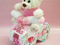Windelmotorrad mit süßem Teddy in Rosa / Weiß♥