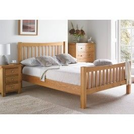 The Dorset Oak range by Devonshire Pine and Oak is new to our collection of wooden beds and furniture. Finished the highest standards in North American Oak, the Dorset bed frame is beautifully crafted and finished with a light lacquer. The clean lines of the frame are sure to look fantastic in a modern or more traditional bedroom setting. The slatted design is eye catching yet elegant. The Dorset collection is fantastic value, so it is both easy on the eye as well as the wallet! The Dors...