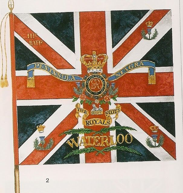 King´s Colour , 3rd Bn. , 1st Foot (Royal Scouts), 1817.