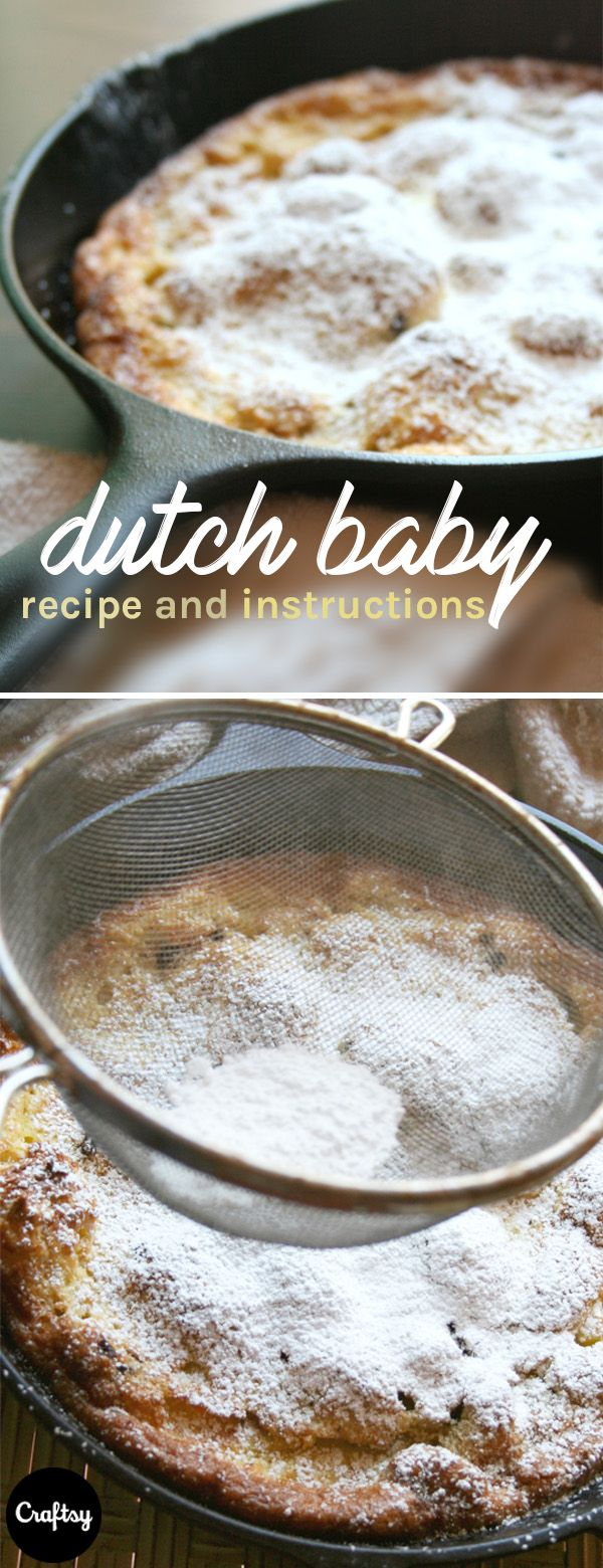 Ever heard of a dutch baby? They're like pancakes but cook in the oven and are coated in berries and powdered sugar for an extra sweet breakfast treat. Get the recipe at Craftsy!
