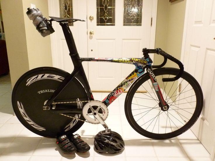Rare 80 S Pinarello Pursuit Track Bike Pedal Room Disc Wheel