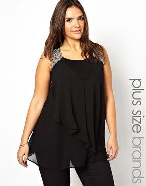 New Look Inspire Embellished Shoulder Swing Vest