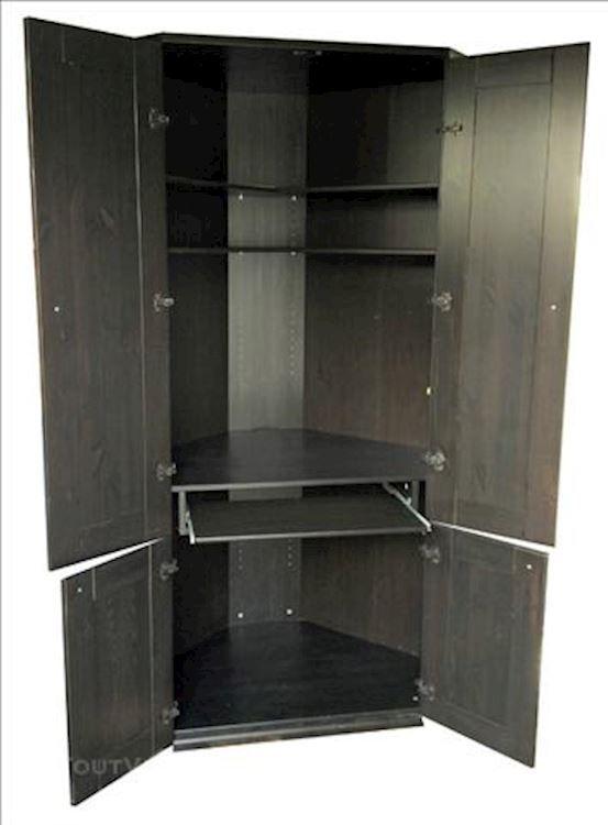 Bureau D Angle Pour Ordinateur Ikea Serie Alve Wenge 2 Pour La Maison