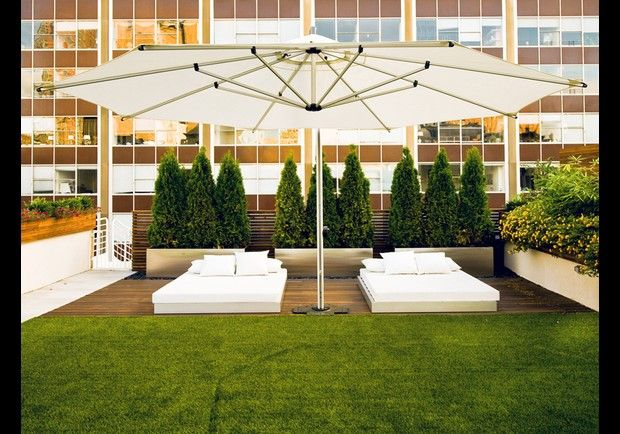 Tribeca Penthouse, New York, NY    This 10-room Manhattan condo touts a private roof terrace with custom plantings and grass, a sprinkler system, an audio system, built-in lighting, and an outdoor kitchen with BBQ.