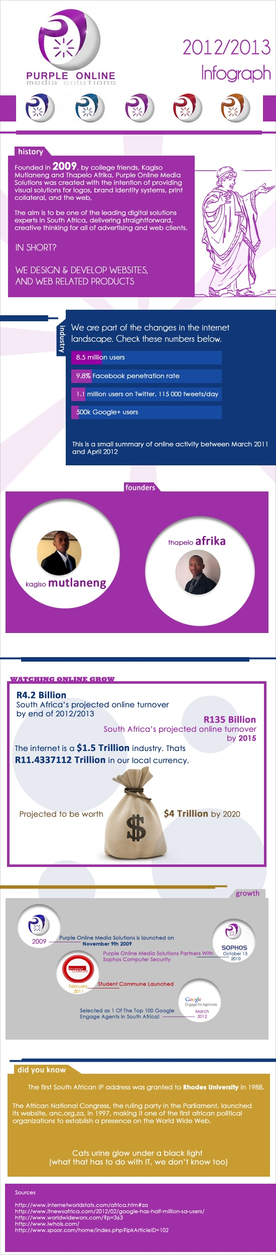 Purple Online Media Solutions 2012/2013 Infograph
