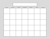 Download FREE Blank Calendar -