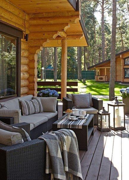 Современный бревенчатый дом на берегу Волги - Дизайн интерьеров | Идеи вашего дома | Lodgers