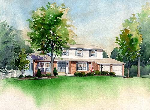 A Watercolor Painting of Your Home, or Business
