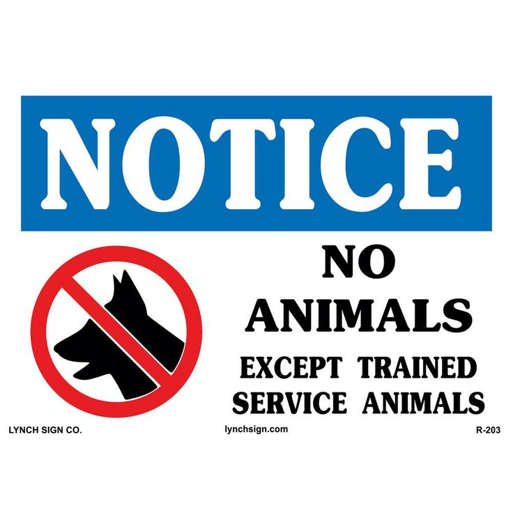 14 in. x 10 in. Service Dog Only Sign Printed on More Durable, Thicker, Longer Lasting Styrene Plastic, White With Blue/Red And Black Printing