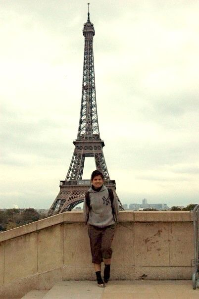 In front Eiffel Tower