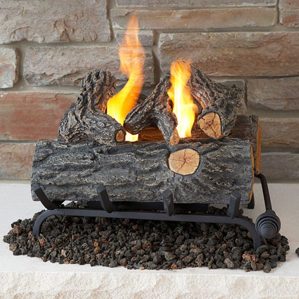 $197.99 Real Flame 18-inch Convert-To-Gel Log Set TO REPLACE THE OLD GAS LOGS