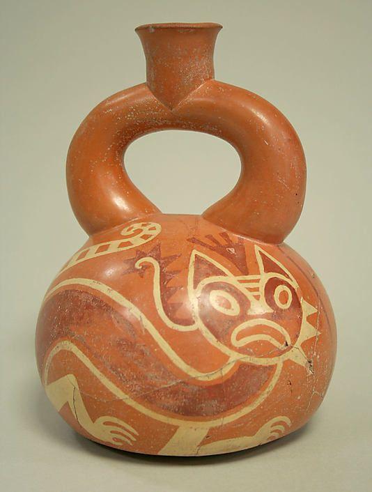 Stirrup Spout Bottle with Felines, 1st century BCE–2nd century CE. Peru. The Metropolitan Museum of Art, New York.
