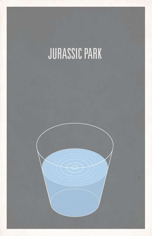 Image of Jurassic Park minimalist movie poster. This terrified me.