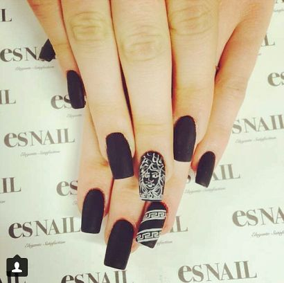 Black and white nail design - The 25+ Best Dope Nail Designs Ideas On Pinterest Dope Nails