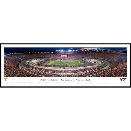 Battle at Bristol - TN vs Vtech Football - Blakeway Panoramas College Print with Standard Frame