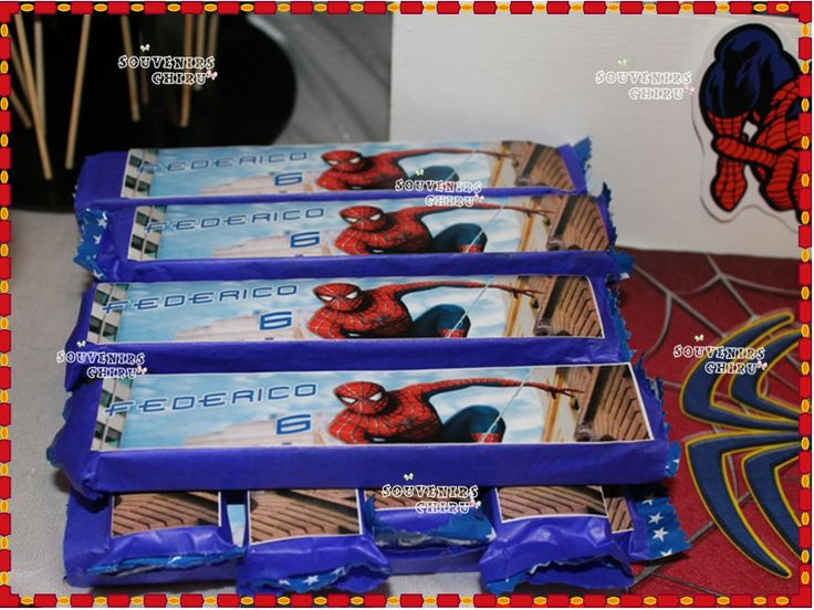 Turrones Personalizados Candy Bar Spiderman Candy Bar