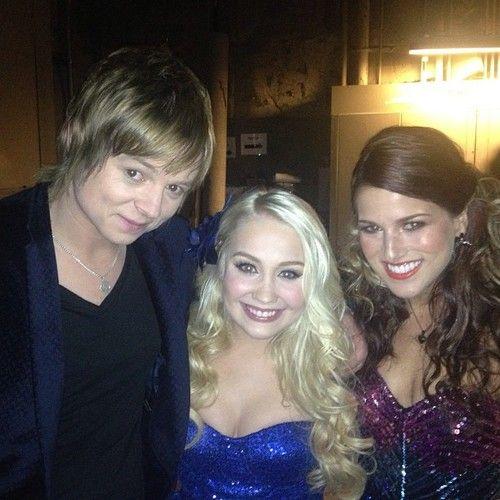 #TeamBlake reunion. Cassadee and Terry with Season 2's Raelynn!