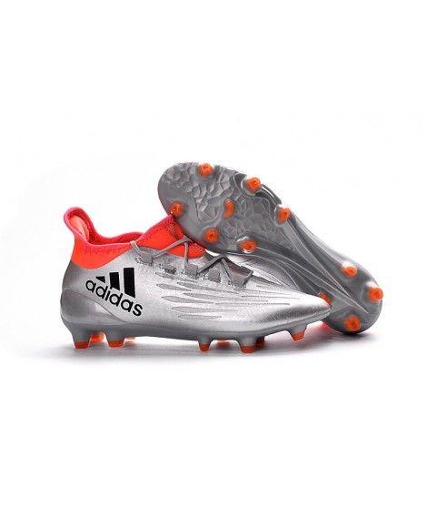 Adidas X 16.3 FG FODBOLDSTØVLE BLØDT UNDERLAG Mænd Fodboldstøvler Sølv Orange