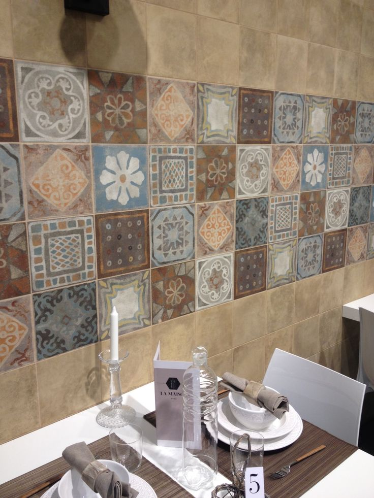 Colorful encaustic tiles at Panaria