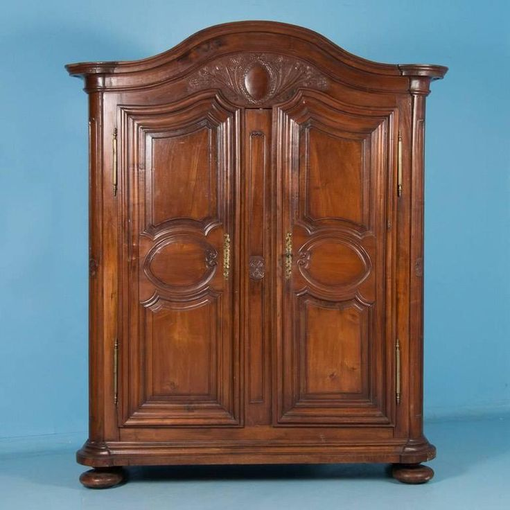 Antique 18th Century French Provincial Carved Walnut Armoire 2