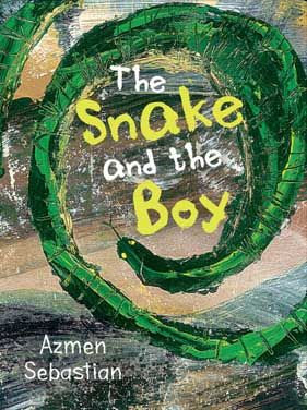 The Snake and the Boy is a tale of the school playground with an intriguing twist. As children play football beneath a sea-blue sky, one boy takes to the bars in the playground, only to have a cunning green tree snake sneak in and steal his apple. Great for fours and fives, children everywhere will relate to this endearing story.