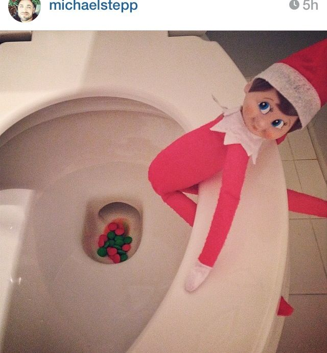 "M & ms as ""elf poop"" #elfmischief #elf on a shelf"