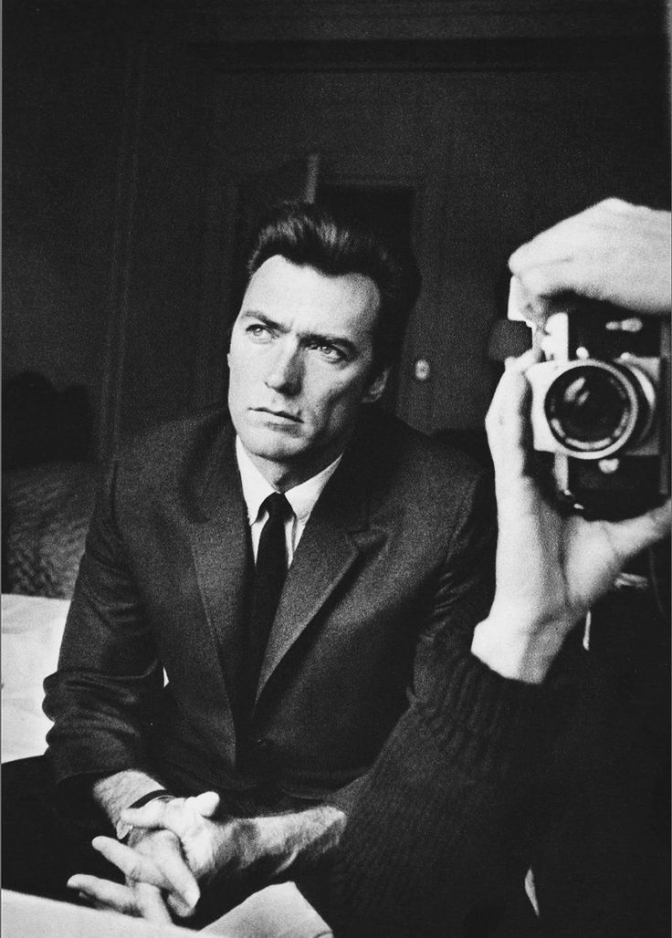 what a handsome man. clint eastwood