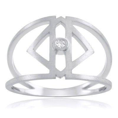 Clarus Ring in Sterling Silver with diamond - GITTE SOEE Jewellery - Shop Online www.gittesoee.com