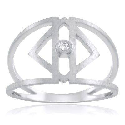 Clarus Ring in Sterling Silver with diamond - GITTE SOEE Jewellery - Shop Online www.gittesoee.com